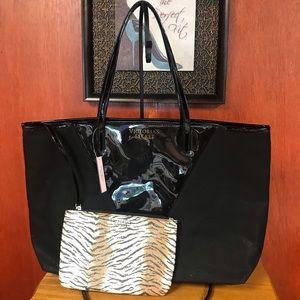 Victoria's Secret tote bag with pouch
